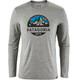 Patagonia M's Capilene Daily LS Graphic T-Shirt Fitz Roy Scope: Feather Grey